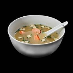 Soupe miso saumon.