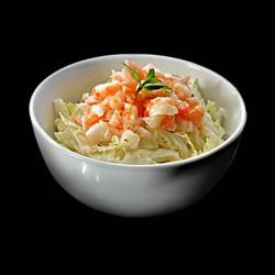 Salade de choux crevette sésame