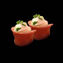 Sushi Flower Saumon - 2 pièces.