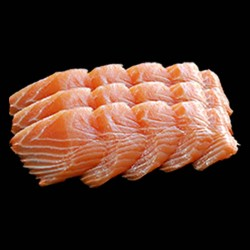 Sashimi Saumon - 12 pièces.