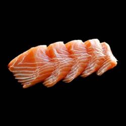 Sashimi Saumon - 6 pièces.