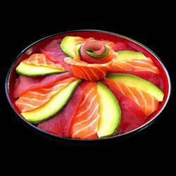 Chirashi Mixte saumon et thon avocat
