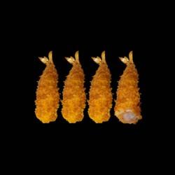 Crevette tempura - 4 pièces.
